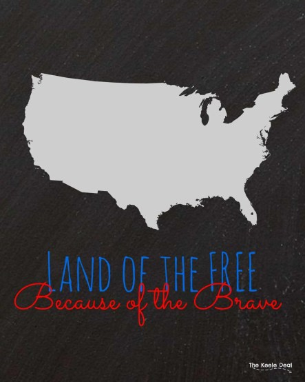 Free Patriotic Printable- Land of the Free Because of the Brave