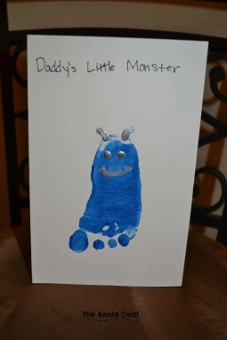 Daddy's Little Monster - Father's Day Card