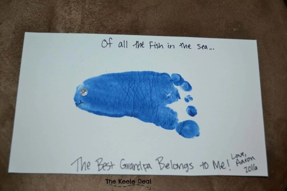 Of all the fish in the sea the best grandpa belongs to me - Father's Day Card