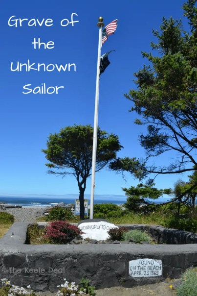 "We road along Sunset Boulevard past the grave of the unknown sailor. This grave has two makers one states ""Known Only to God"" the other says ""Found on the Beach April 25,1965."" thekeeledeal.com #oregon #travel"