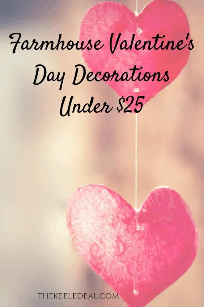 Farmhouse Valentine's Day Decorations Under $25 #farmhousedecor #ValentinesIdeas #FarmhouseDecor #ValentinesDayDecor #homedecor