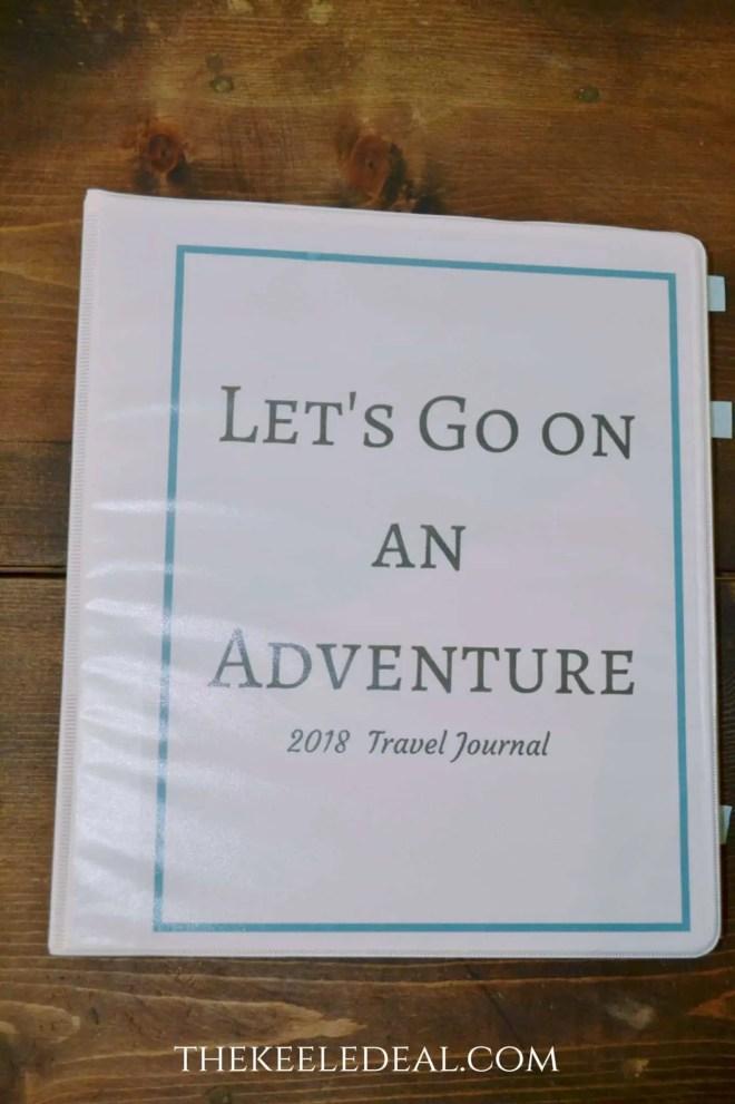 Let's Go on an Adventure free printable travel journal. thekeeledeal.com #TravelJournal #Freeprintable #journal #travel #familytravel #BucketList #