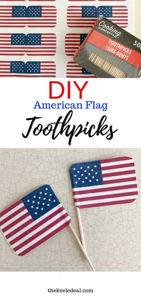 Diy American Flag Toothpicks Printable The Keele Deal
