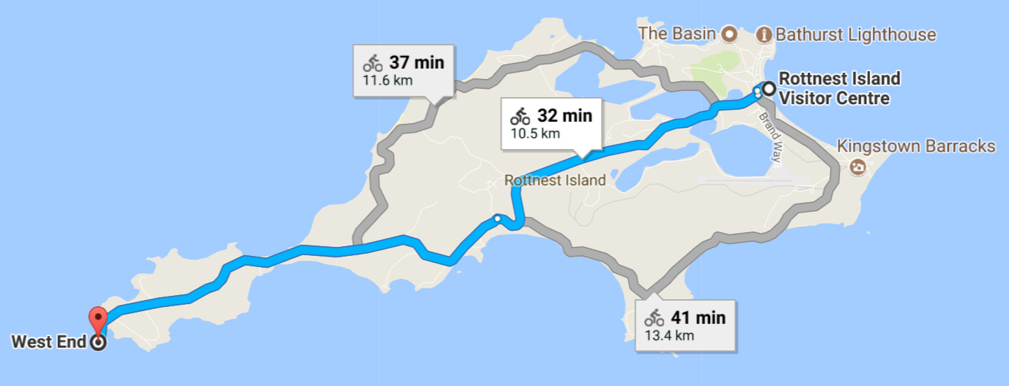 Rottnest Island Cycling Route