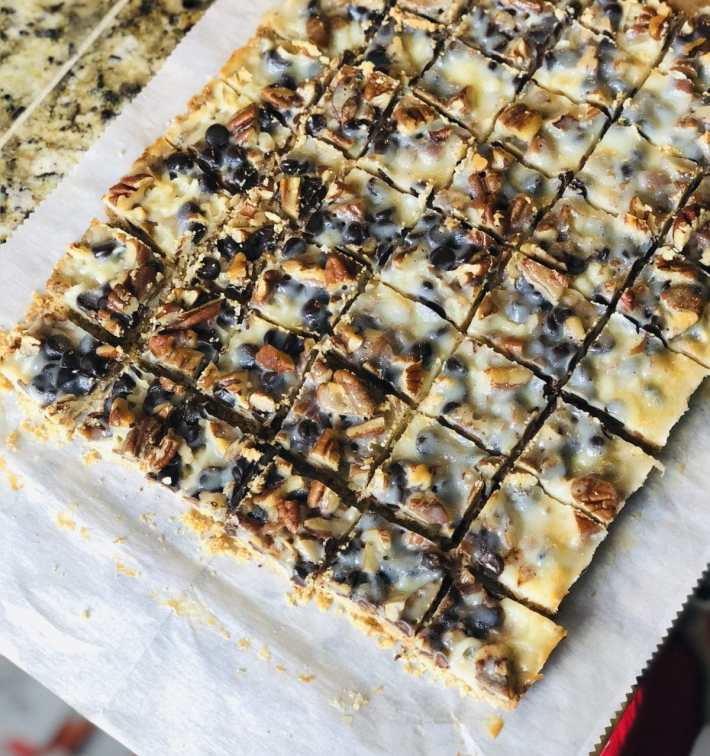 Keto Magic Bars are easy to make with most of the ingredients already in your pantry.