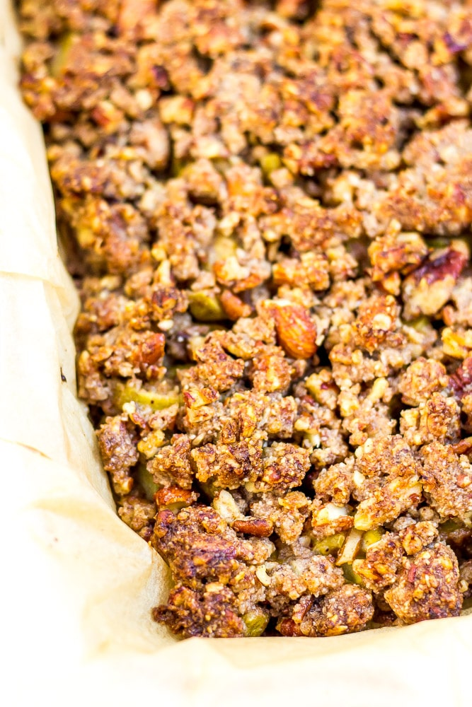 Crunchy low carb granola can be made and stored to sprinkle over your low carb yogurt or keto ice cream.