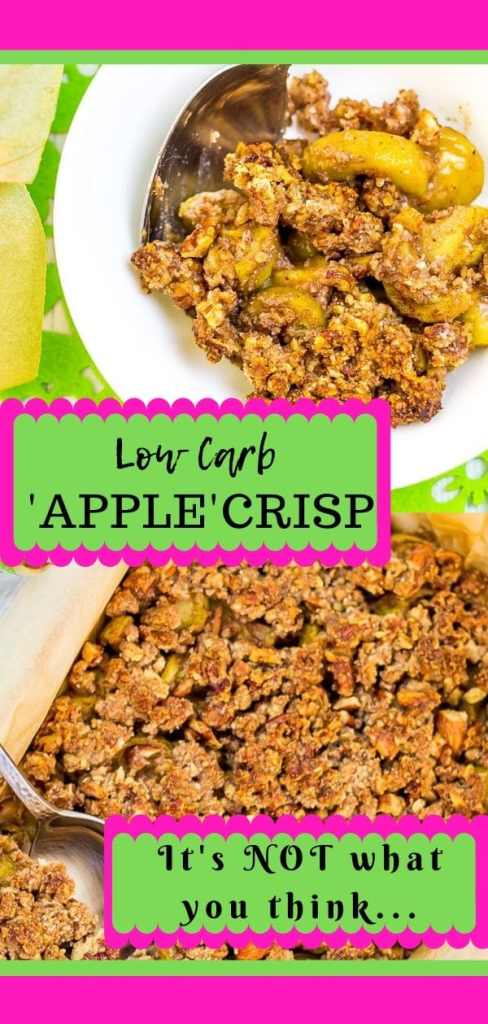 Keto Friendly Apple Crisp-You will never guess how I get zucchini to taste like apple crisp.  So E A S Y!!!