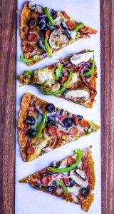 Keto Cheese Crust Pizza