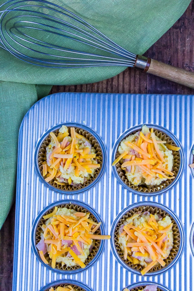 Low Carb Ham & Cheese Muffins
