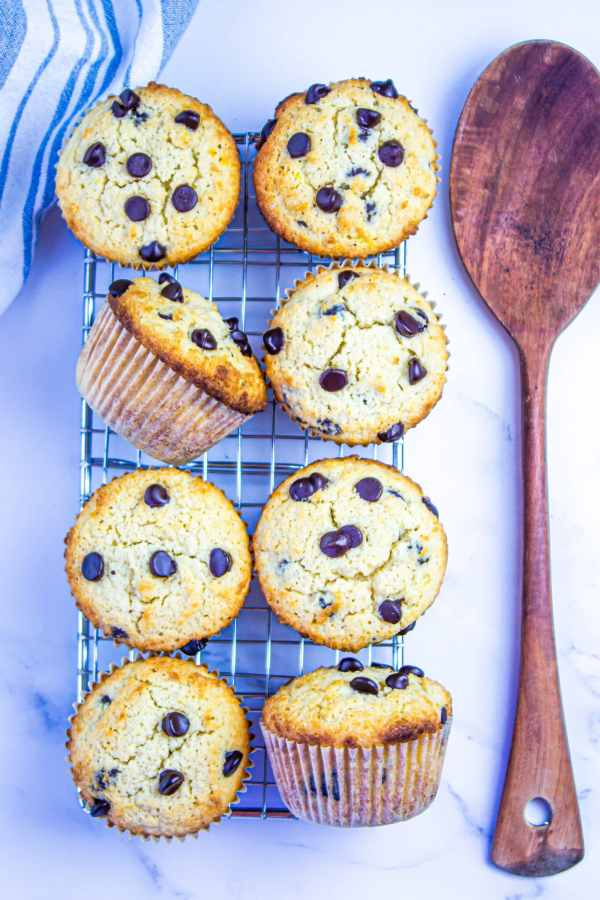 Low Carb Banana Chocolate Chip Muffins