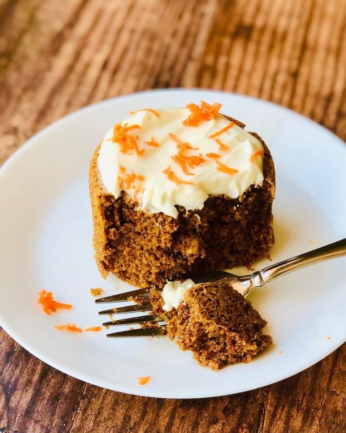 Keto Carrot Cakes for two