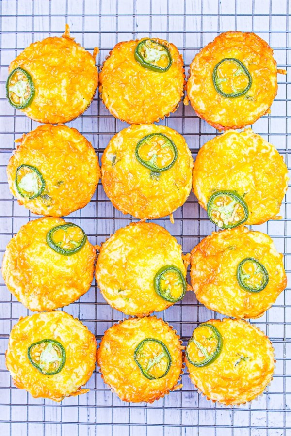 Cheddar Muffins with a little spice from jalapeno