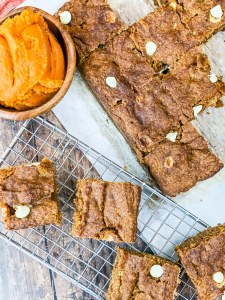 Keto Pumpkin Blondies