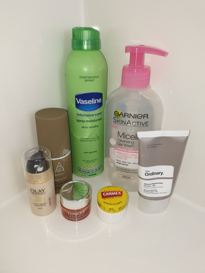 My current skincare routine products