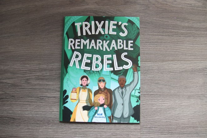 Personalised remarkable rebels book with green cover