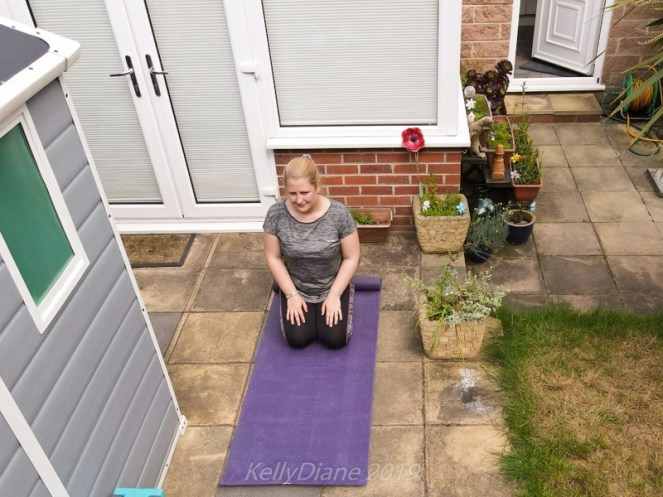Yoga Bliss Sustainable yoga mat in a garden