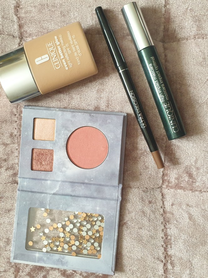 Simple summer make up products as mentioned within the post.