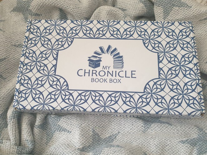 Photo of My Chronicle Book Box subscription box packaging.
