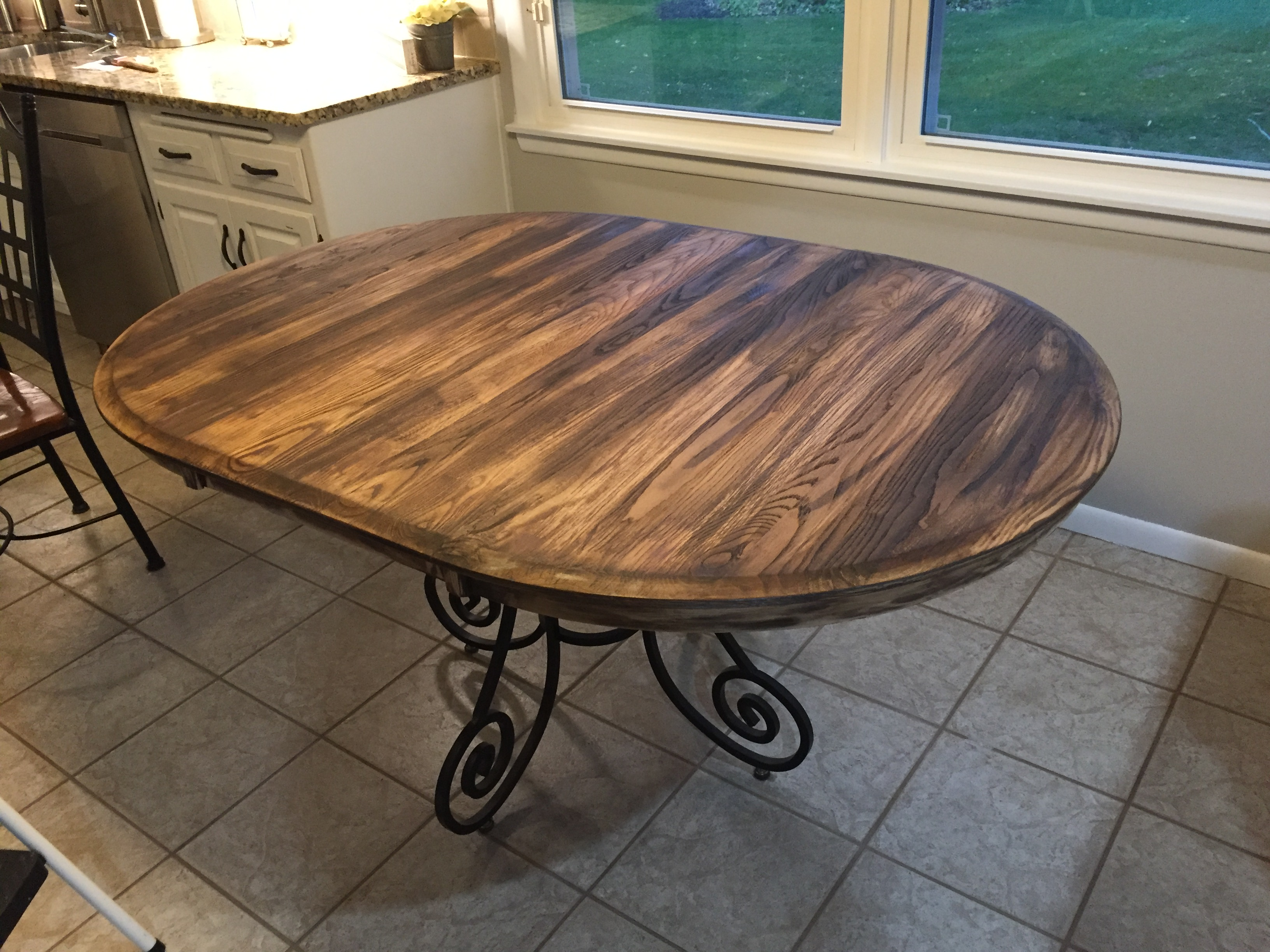 Refinish table in rustic barnwood farmhouse style