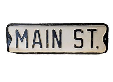 Vintage Street Sign (Main St.) Joanna Gaines street sign
