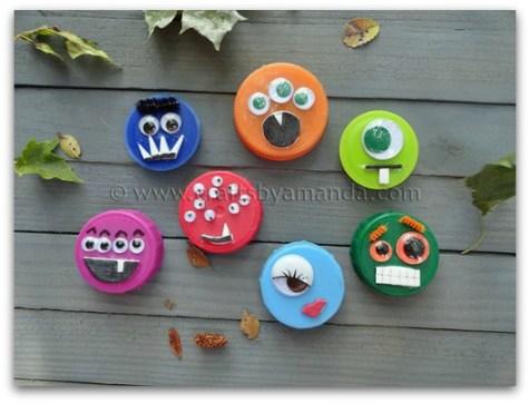 plastic lid monsters