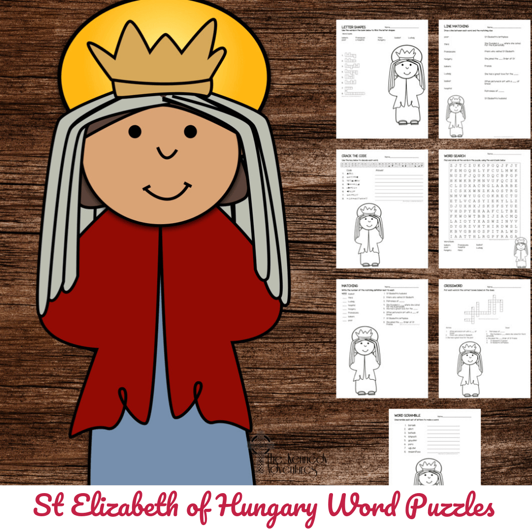 St Elizabeth Of Hungary Word Puzzles