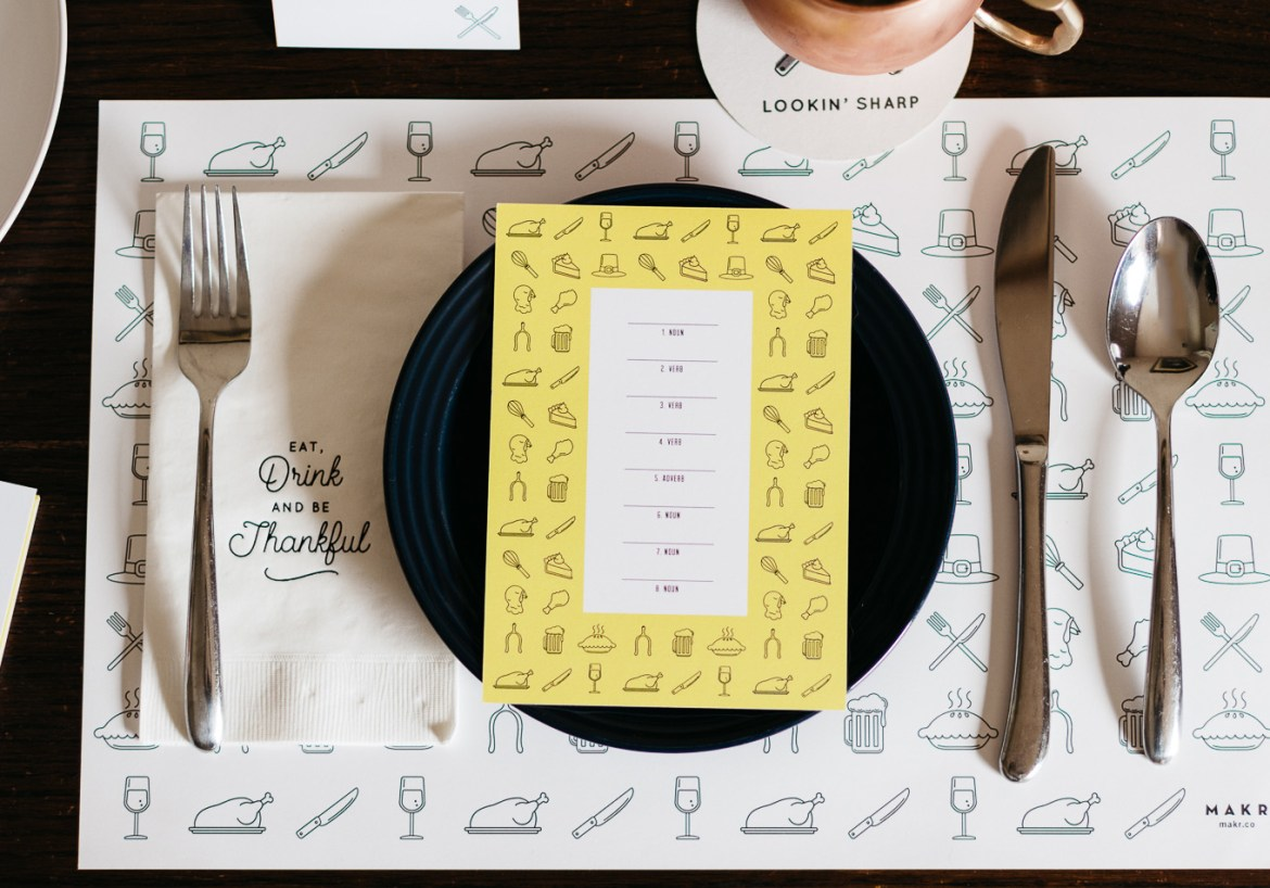 friendsgiving, thanksgiving, how to set your table, makr, how to set the table for friendsgiving