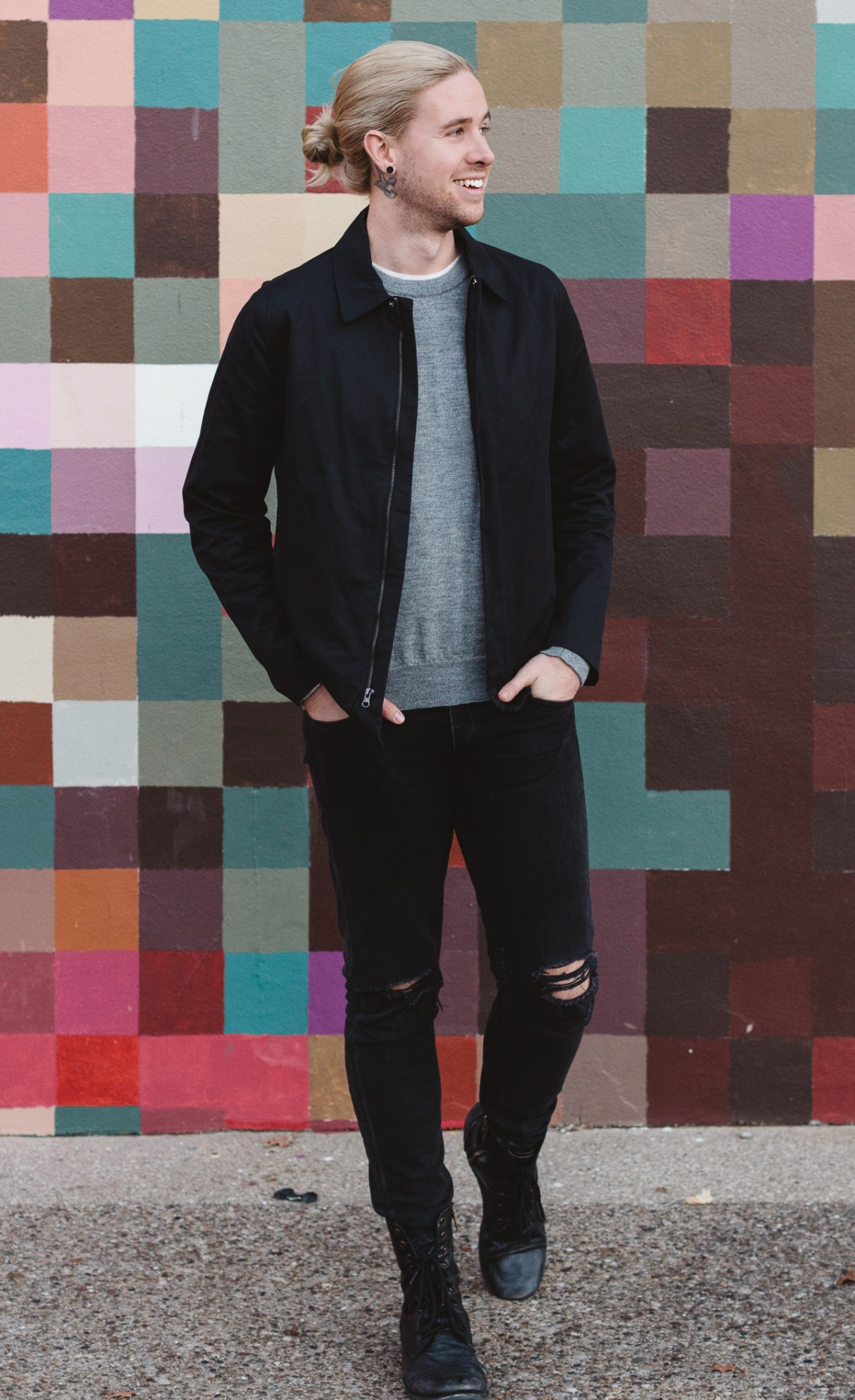 zady, five four club, mens alpaca sweater, rag & bone skinny jeans, mens fall fashion, access ventures louisville