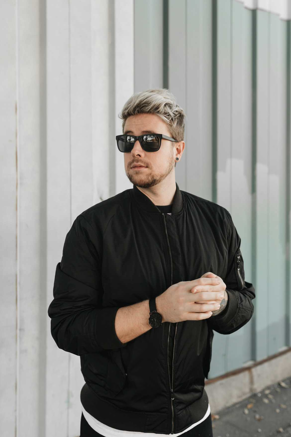 black wary parker sunglasses