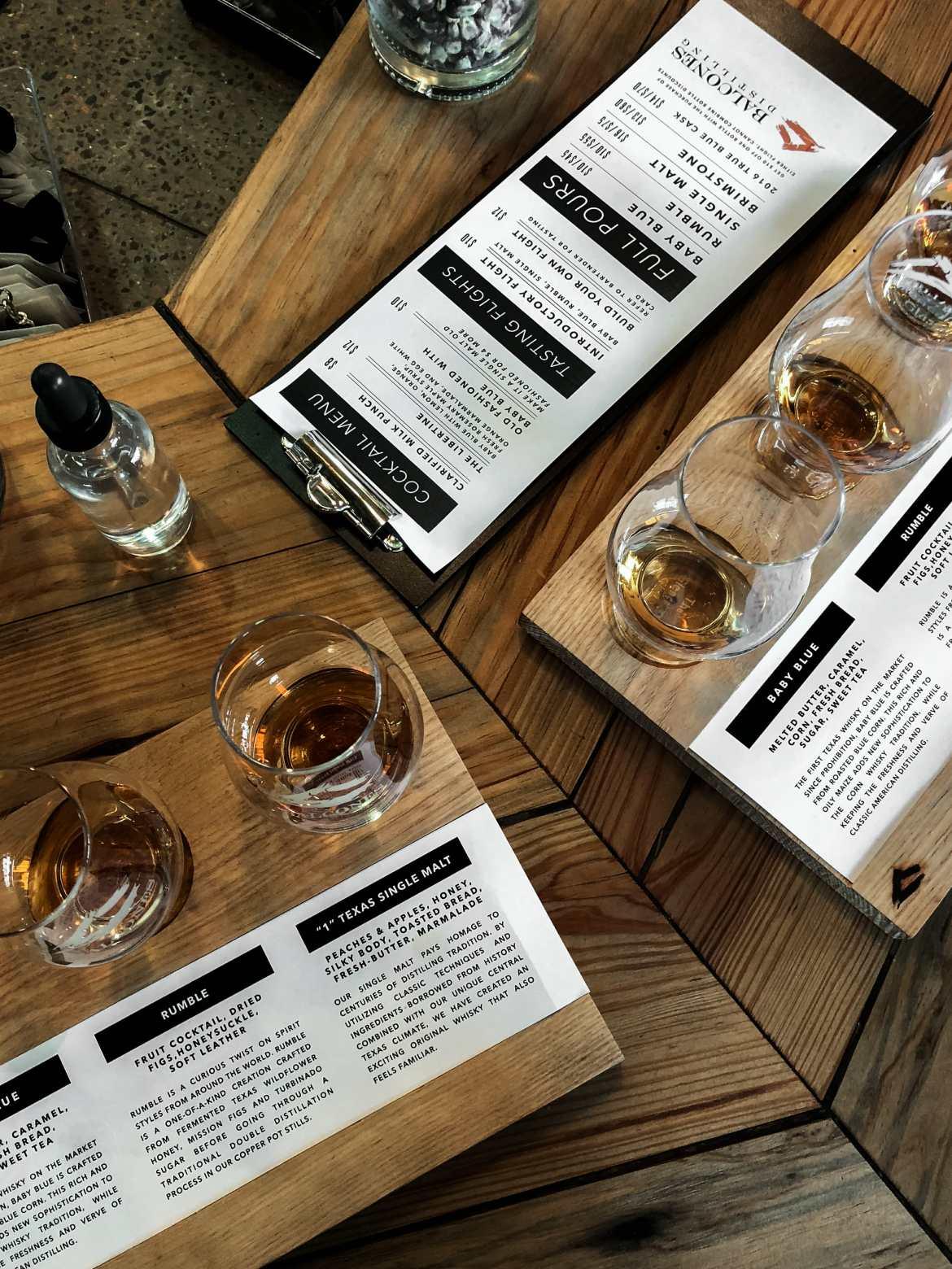 balcones whiskey tasting