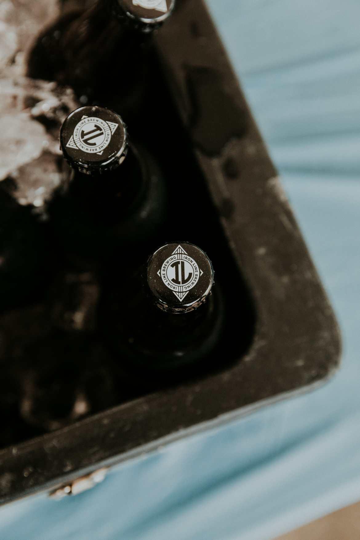 iron line brewing beer cap