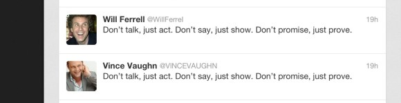 Inspirational zombie tweets.  Free Will Now! Circa April 22, 2013