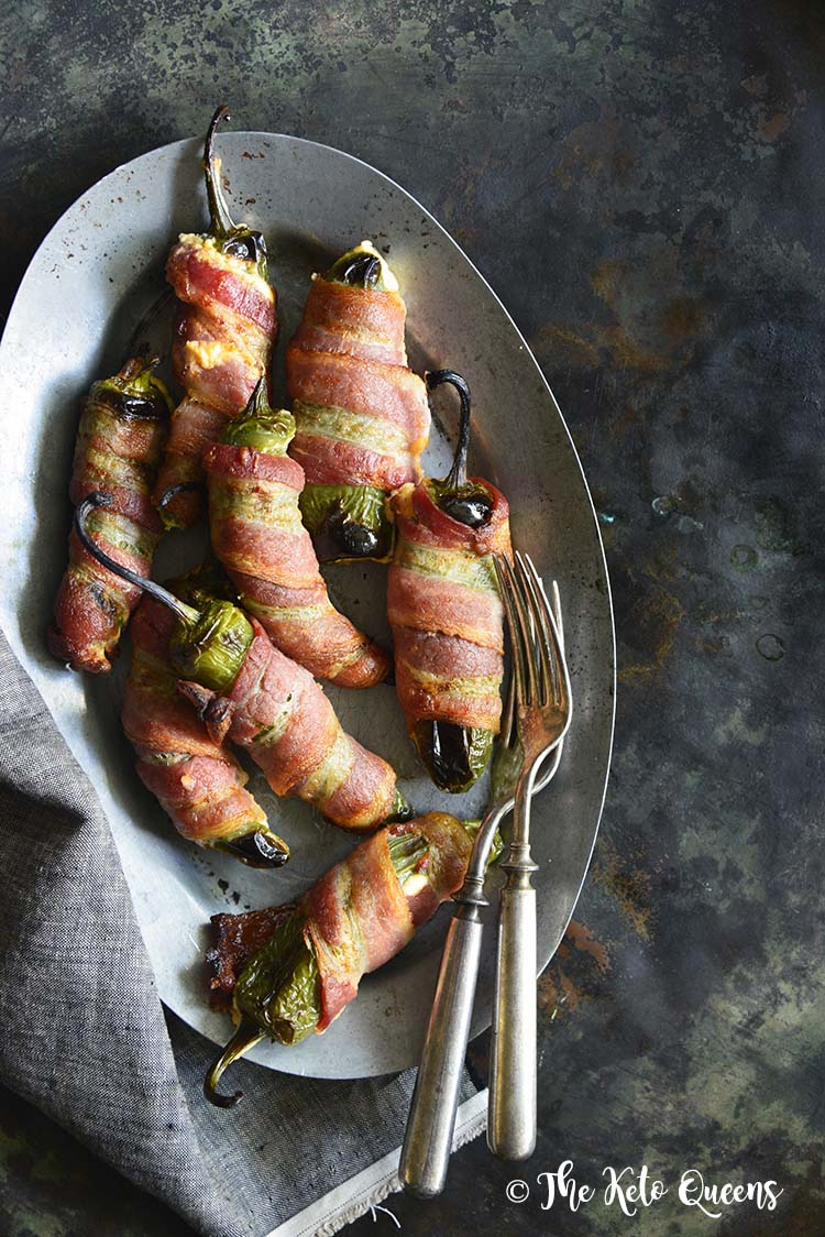 Keto Cheese-Stuffed Bacon Wrapped Jalapeno Poppers