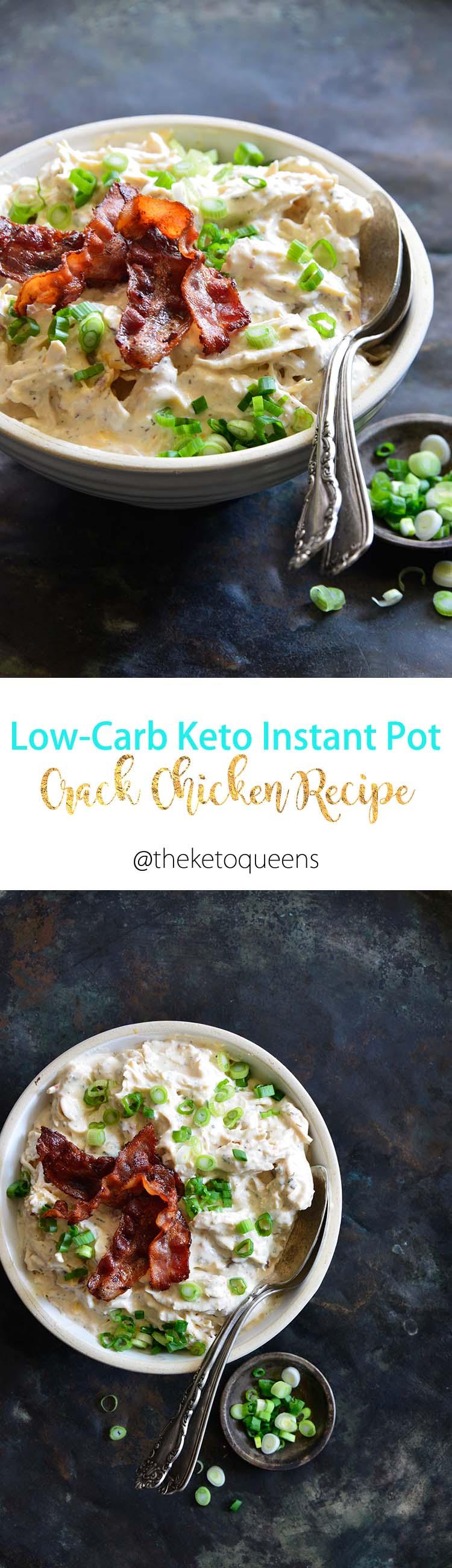 Keto Instant Pot Crack Chicken Recipe Long Pin