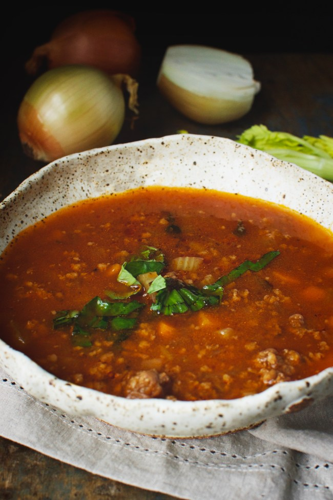 low carb Italian sausage soup