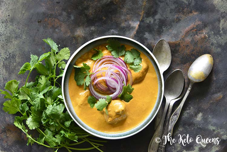 Close Up of Low Carb Keto Indian Butter Chicken