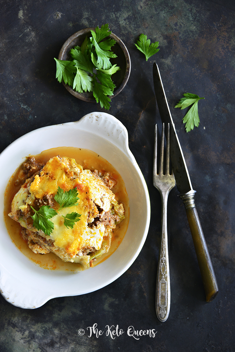 #LowCarb Lasagna with Easy Meat Sauce and Cabbage Noodles Recipe