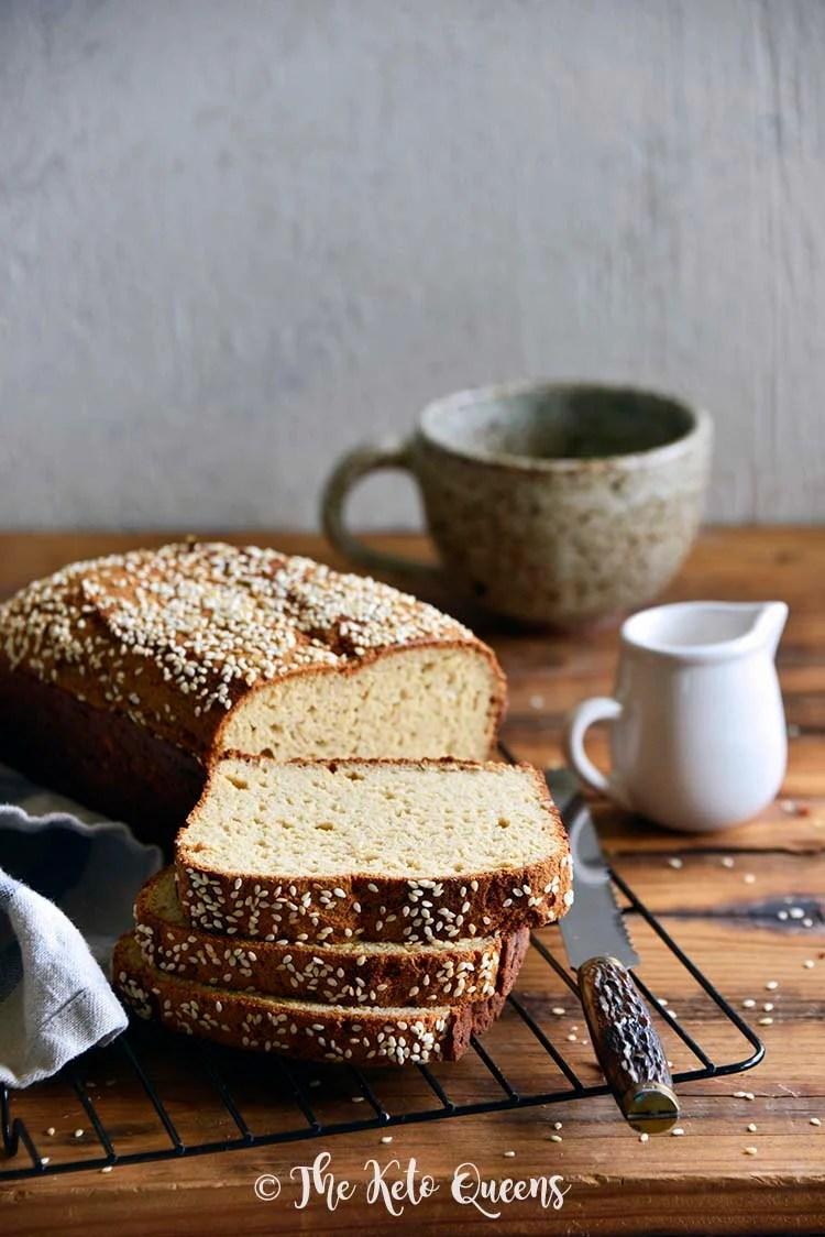 The Best Keto Bread Recipe on Wire Rack