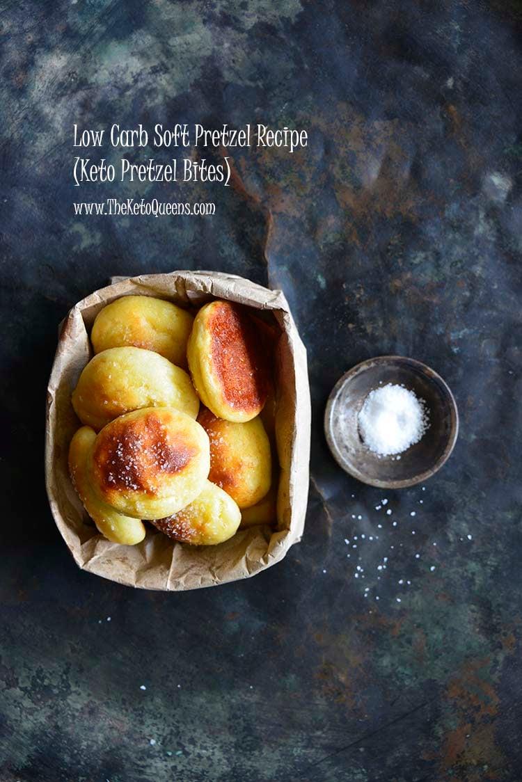 Low Carb Soft Pretzel Recipe (Keto Pretzel Bites) with Description