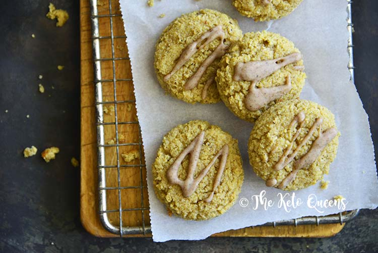 Close Up of Best Pumpkin Spice Snickerdoodle Cookie Recipe (Keto, Gluten Free)