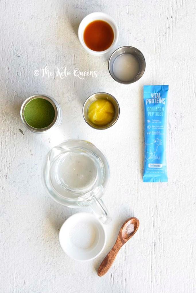 Bulletproof Matcha Latte Recipe. Vital Protein collagen peptides.
