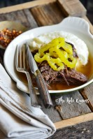 Front View of Keto Instant Pot Mississippi Pot Roast Recipe