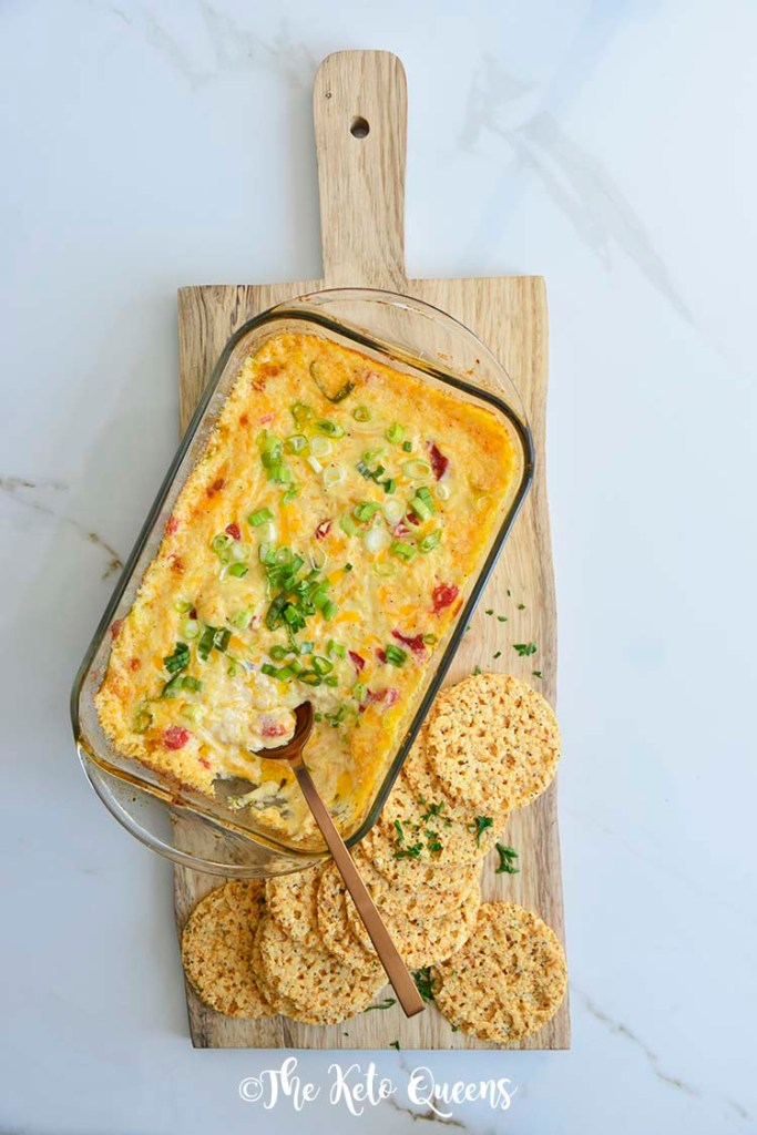 An Easy Pimento Cheese Dip so good you'll want to eat it with a spoon! Bursting with flavor, this savory dip will be a hit at your next party!