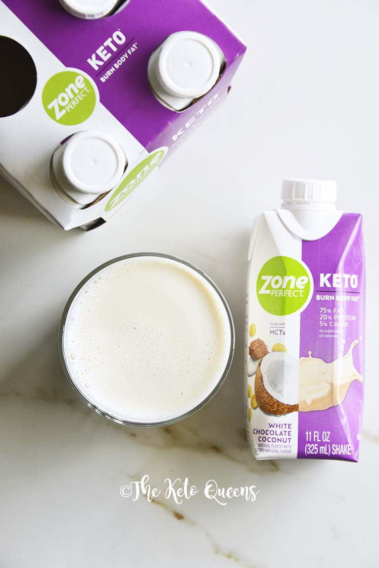 ZonePerfect White Chocolate Coconut with Glass and Carton