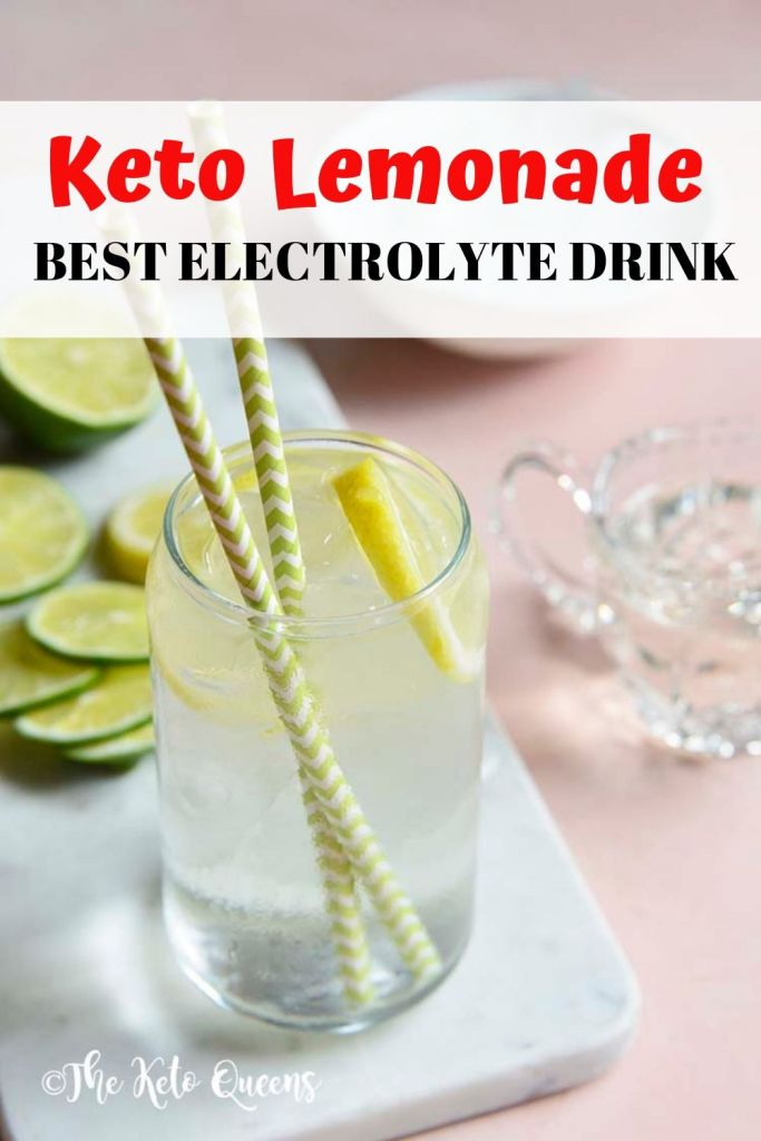 Keto lemonade best electrolyte drink pinable image