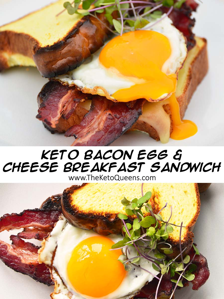 This Keto Breakfast Sandwich is our new favorite low carb breakfast! Our bacon egg and cheese sandwich will leave you full and satisfied for hours. They are perfect to meal prep for breakfast to save you time in the morning.