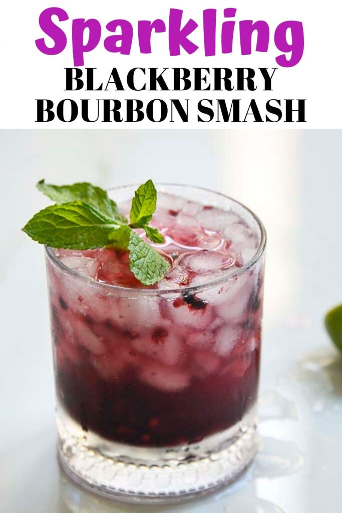 Blackberry Bourbon Smash pinable image