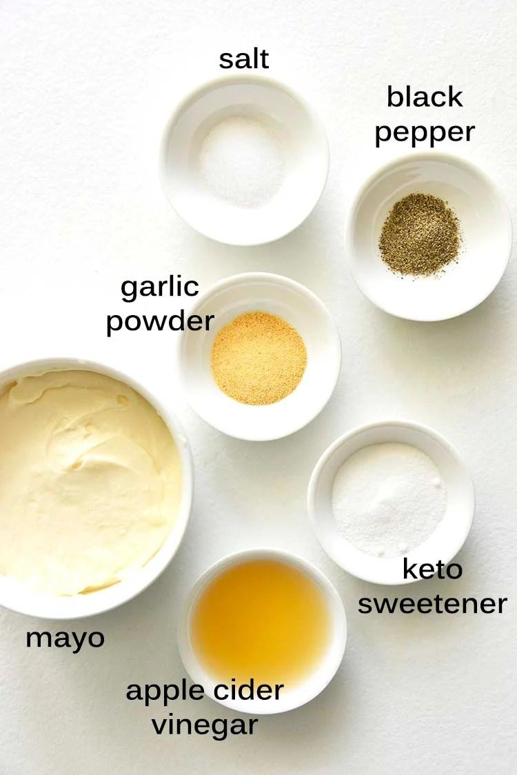 Creamy Dressing Ingredients