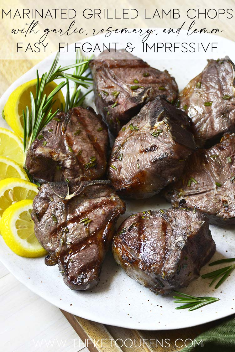 marinated grilled lamb chops recipe graphic
