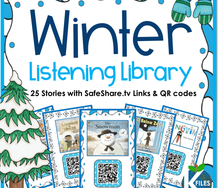 January Listening Center with QR Codes